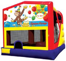 Curious George, Bounce Houses, Combos, Slides, Jumpers, Orange County